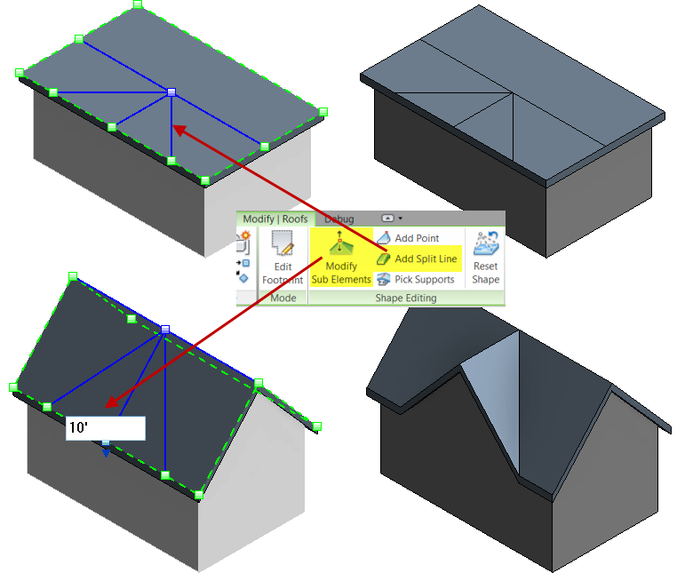 Revit Roof Amp Revit Immediately Changes The Profile Of The